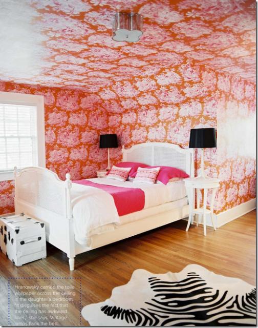 Interior house design interior designer 1940s home by - Orange and pink bedroom ideas ...