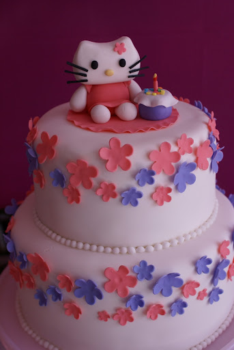 hello kitty birthday cake designs