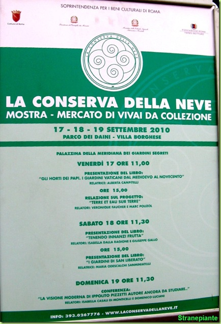 poster conserva neve