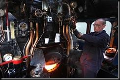 Aboard Sir Nigel Gresley