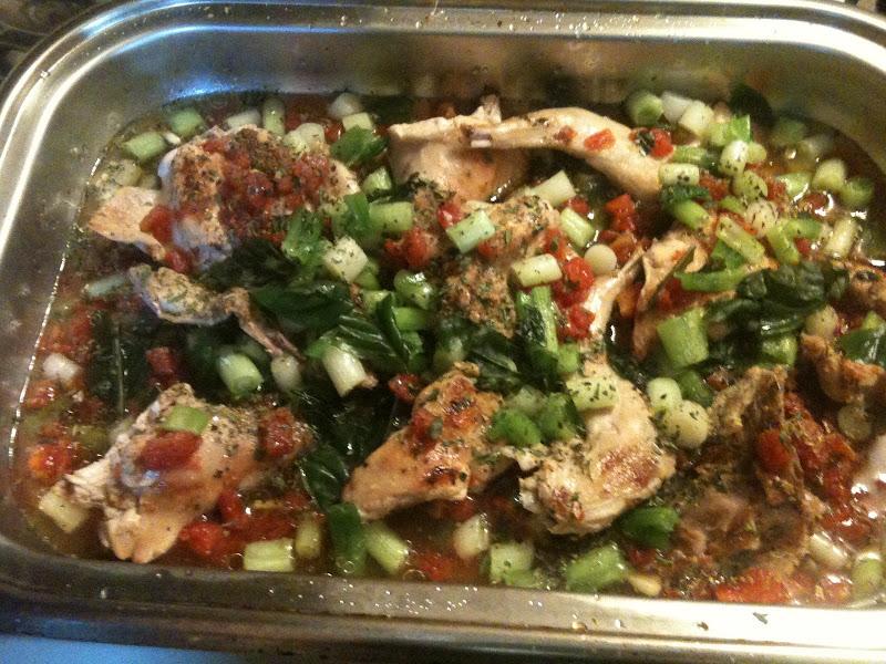 Recipe: Roasted Rabbit or Coniglio Con Pomodoro, Cipolla, Vino, e Le Erbe