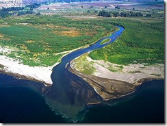 Jordan_River_entering_Sea_of_Galilee_aerial (Small)