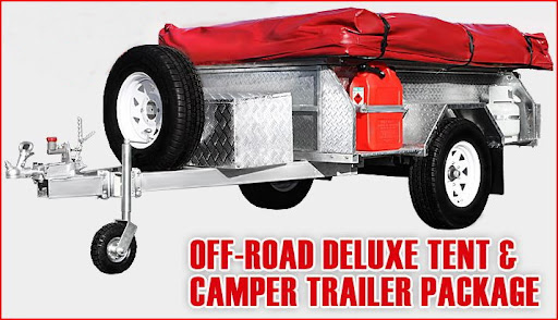GALVANISED CAMPING TRAILER & TENT 4X4 4WD OFF ROAD CARAVAN