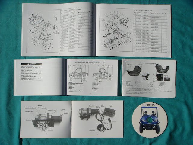 Hisun Farm Ute Utility 4WD 4x4 DVD Parts Manual Catalog