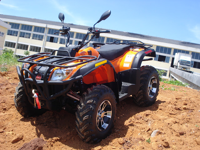 500cc Rubicon Crossfire ATV Farm 4x4 Quad Bike Orange