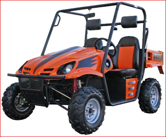 250cc UTV Farm Utility Vehicle Side By Side Orange