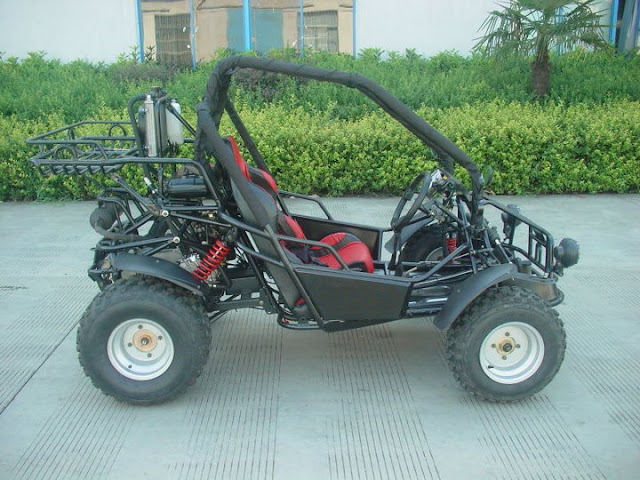250cc Kinroad Sahara Xt250GK2 Dune Buggy Black Side View