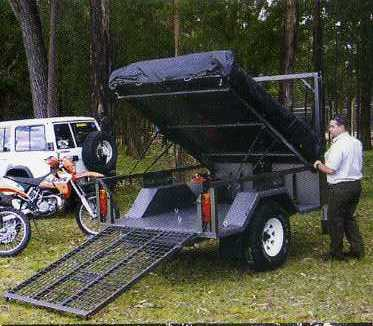 Offroad Quad, Dirt Bike & Motor Bike Camper Trailer