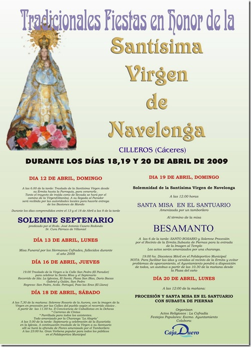 cartel Navelonga 2009