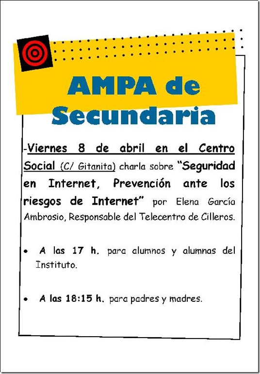Cartel Seguridad en Internet