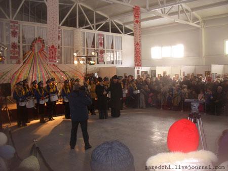 Открытие праздничного концерта Митрополитом Киевским Владимиром на Масленицу.