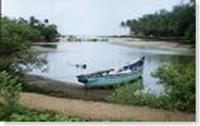 baga riverside in Goa