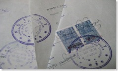 Notary stamp on Portuguese documents of goans