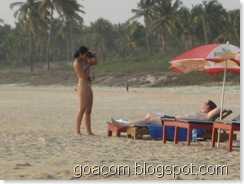 Tourists at majorda beach Goa