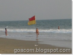 flags for safe swimming in Goa