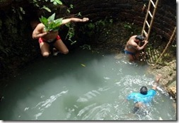 sao Joao - jumping in wells in goa