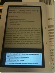 Reading ASP.NET MVC In Action with Nook (5)