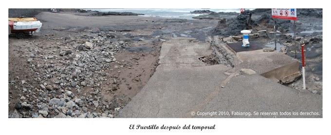 Destrozos en la costa Norte
