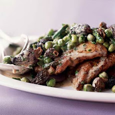 Chicken Scallopine with Morels and Spring Vegetables