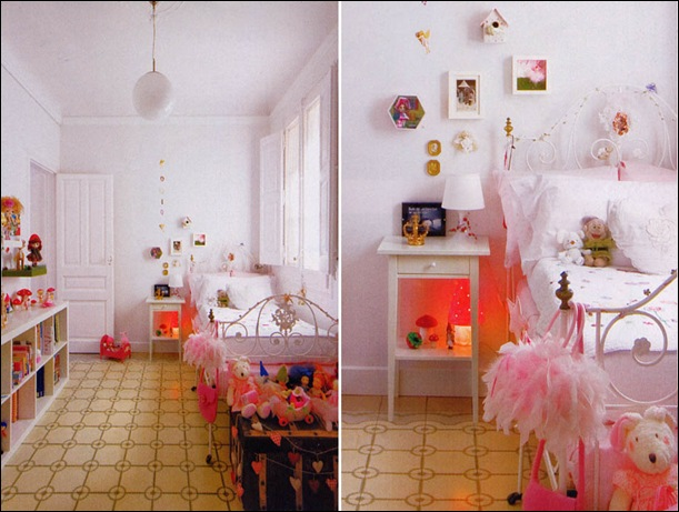idea para decorar dormitorio ni%C3%B1a en blanco y rosa