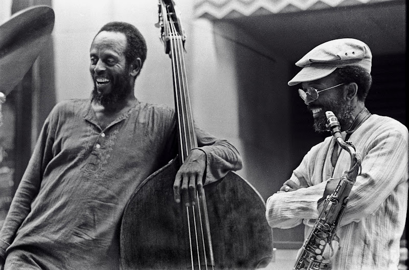 Percy Heath & Jimmy Heath Rockerfeller Center June, 1977.jpg