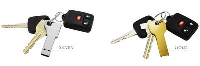 Gold and Silver Key USB flash drive