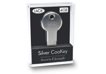 Silver Key USB flash drive