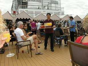 free booze. unheard of on a cruise ship