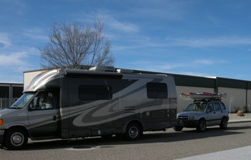Out of Redding RV storage and ready to go