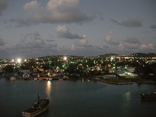 evening sail away from Antigua