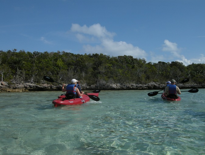 heading out into the lagoon on Half Moon Cay