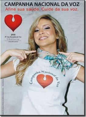 Material para download da campanha da voz 2010, com Claudia Leitte 2010