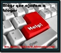 Selo Blogs que ajudam a Blogar