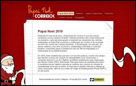 "Visite o Hotsite ""Papai Noel dos Correios 2010"""