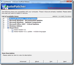 Autopatcher: No Need of Automatic Update: Download updates and install them on many computers.