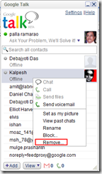 Remove Chat Contact from Gmail