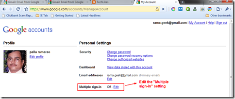 Check Multiple Gmail Accounts