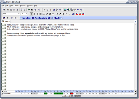 A Free Offline Diary: Software