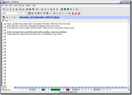 A Free Offline Diary: Software