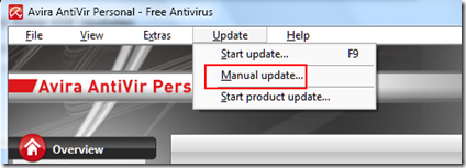 Avira Manual Update   Download