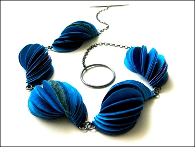 3.Blue shell necklace
