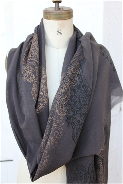 Silk screened scarves