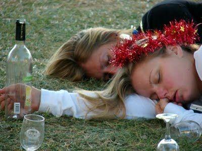Garotas no final da festa