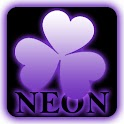 Purple NEON theme GO Launcher icon