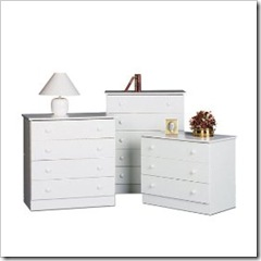 white 5-drawr chest-target