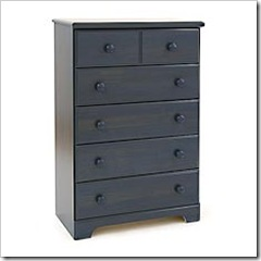 south shore 5-drawer chest-antique blue