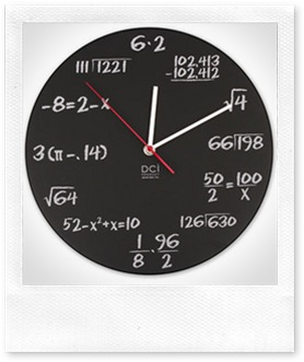 math pop quiz clock