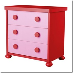 ikea mammu 3 drawer chest