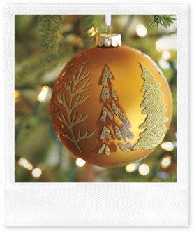 1_gold scenic ball christmas ornament