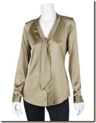 burberry STRETCH SATIN TIE BLOUSE